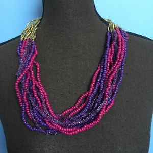 Erica Lyons Multi-Strand Bead Statement Necklace